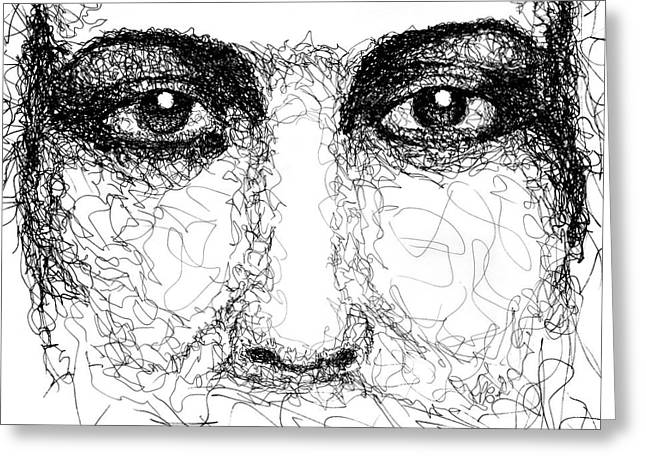 The Eyes Of Jesus Greeting Card