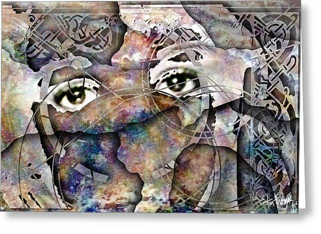 Eyes Of Olde Greeting Card by Tim Thomas