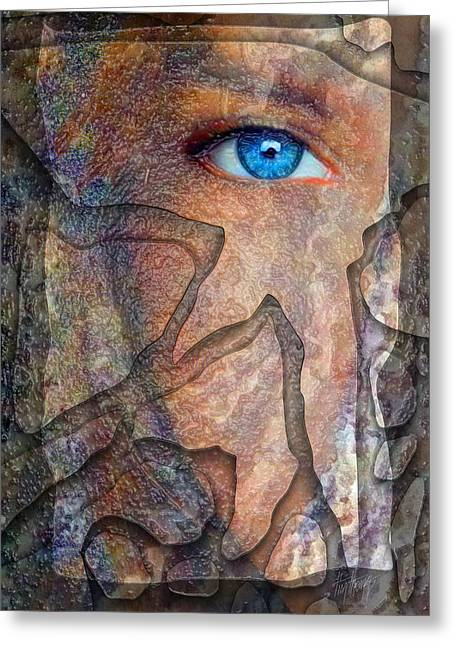 Eyes Of Stone Greeting Card by Tim Thomas