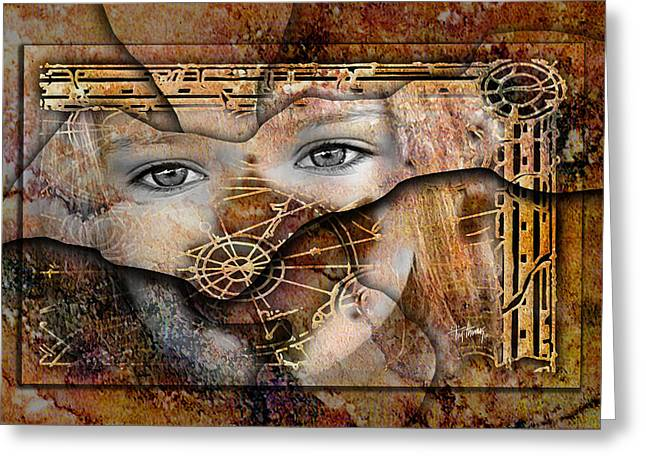 Eyes Of The Ancients Greeting Card by Tim Thomas