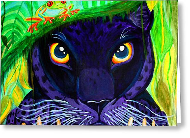 Eyes Of The Rainforest Greeting Card by Nick Gustafson