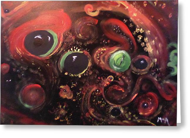Eyes Of The Universe # 5 Greeting Card by Michelle Audas