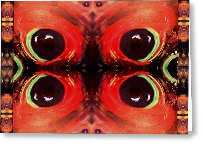Greeting Card featuring the digital art Eyes Of The Universe # 8 by Michelle Audas