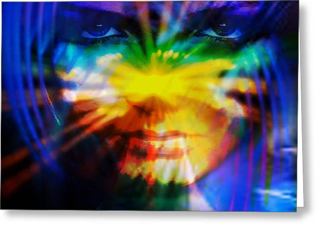 Greeting Card featuring the digital art Eyes Of Truth by Shadowlea Is