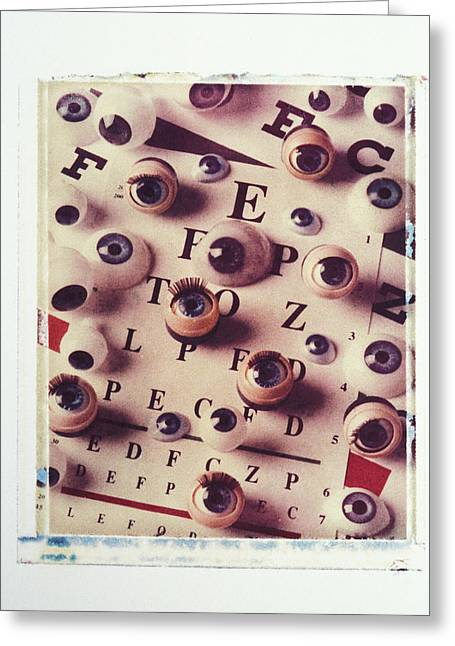 Eyes On Eye Chart Greeting Card