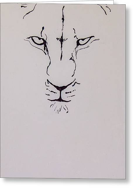 Eyes On You Greeting Card by Rina Bhabra