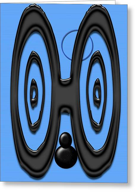 Eyes Or Ears You Decide Greeting Card by Tina M Wenger
