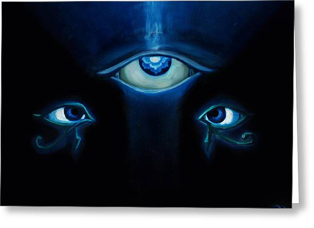 Eyes To See Greeting Card by Leon Willis