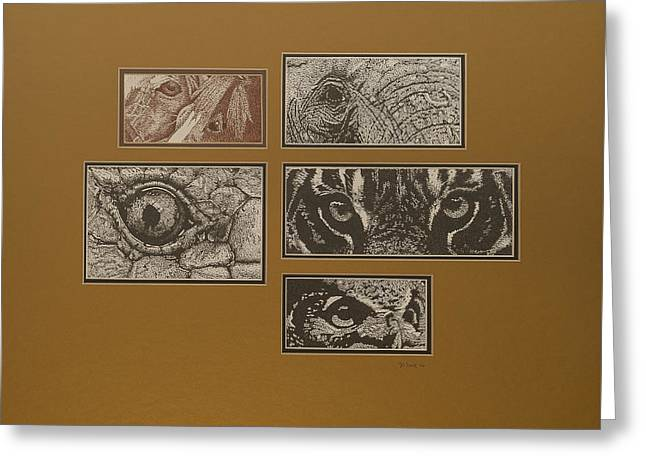 Eyes Greeting Card by Wendell Fiock