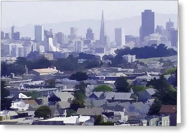 Looking East Toward San Francisco Greeting Card