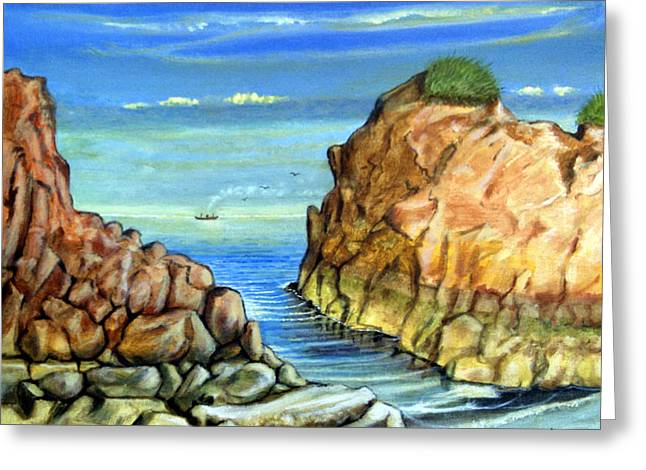 Eynmouth South East Scotland Greeting Card by James Richardson