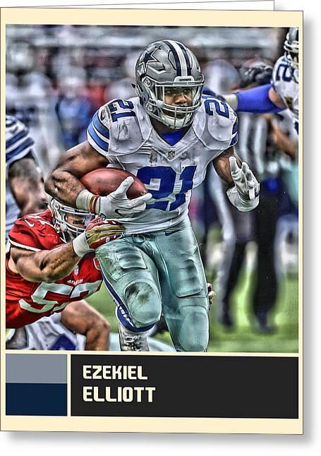 Ezekiel Elliott Dallas Cowboys Greeting Card