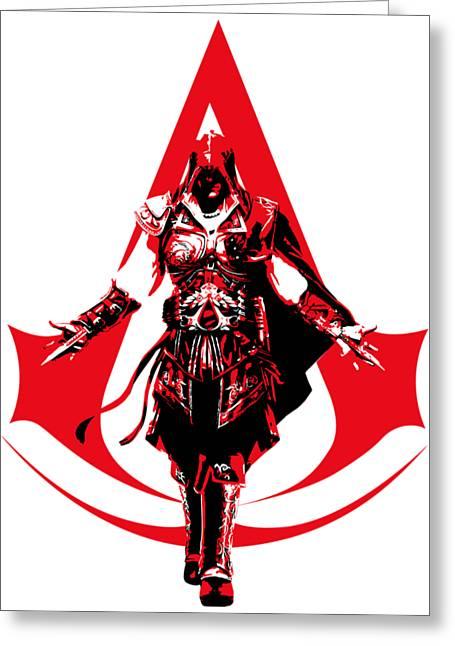 Ezio - Assassin's Creed Greeting Card by Danilo Caro