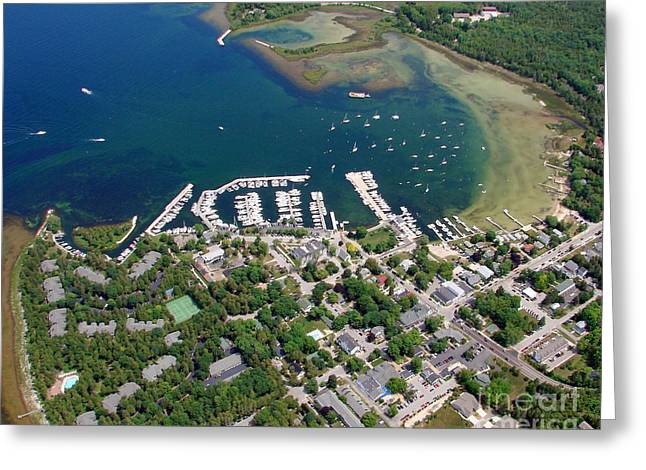 F-001 Fish Creek And Harbor Door County Wisconsin Greeting Card by Bill Lang