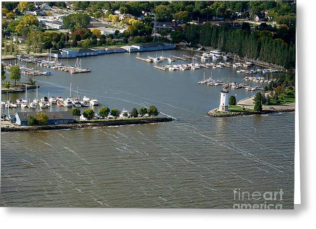 F-003 Fond Du Lac Wisconsin Harbor Greeting Card by Bill Lang