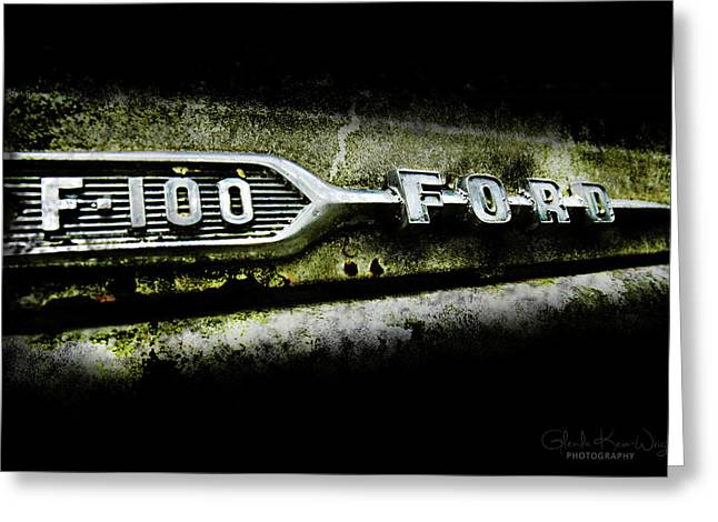 Greeting Card featuring the photograph F-100 Ford by Glenda Wright