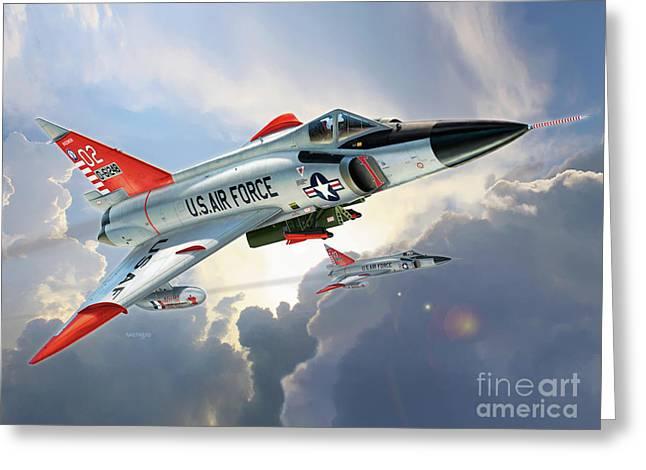 F-102 Delta Dagger William Tell Greeting Card