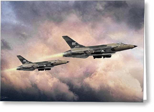 F-105 Thunderchief Greeting Card