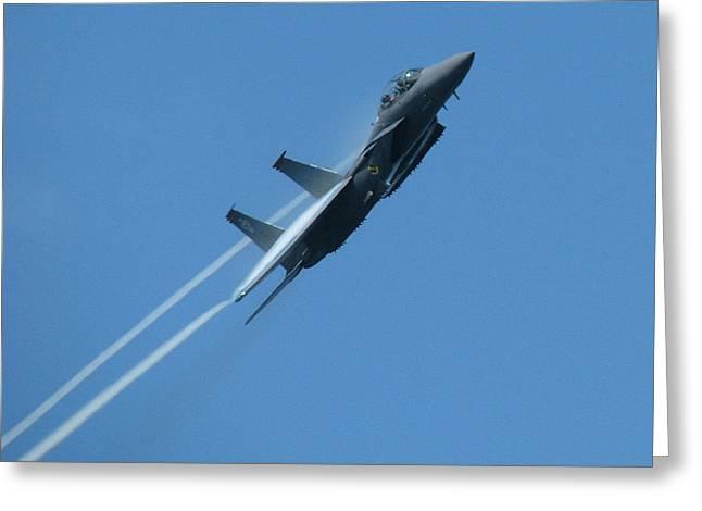 Samuel Sheats Greeting Cards - F-15 Strike Eagle Greeting Card by Samuel Sheats