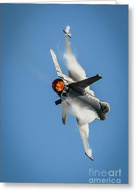 F-16 Banks Right Greeting Card