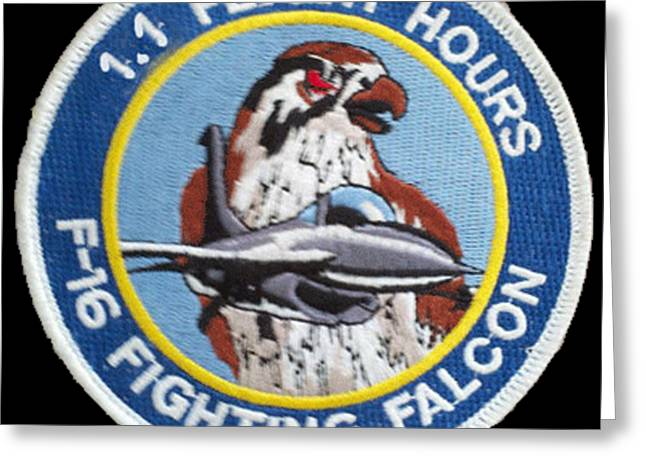 F-16 Ride Patch Greeting Card