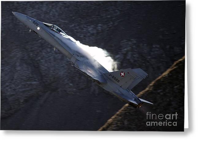 F 18 Greeting Card