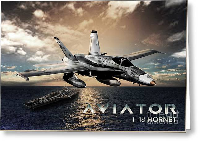 F-18 Hornet Fighter Jet Greeting Card