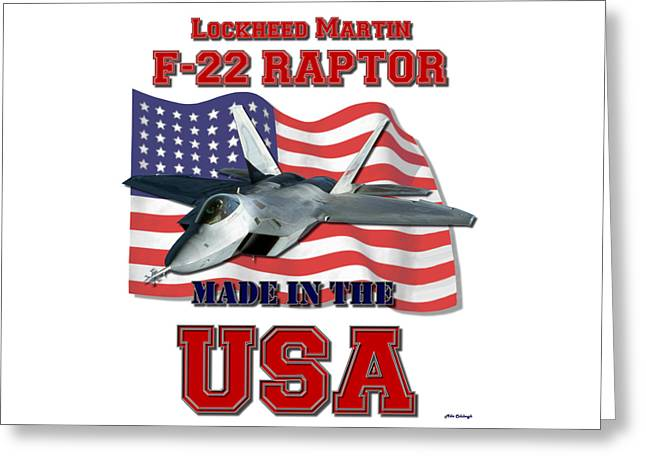 F-22 Raptor Made In The Usa Greeting Card