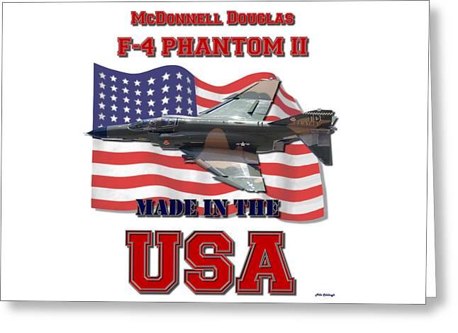F-4 Phantom Usaf Made In The Usa Greeting Card