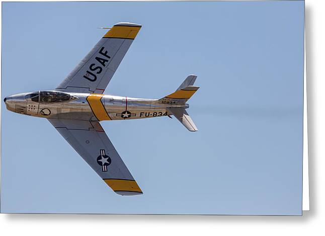 F-86 Jolley Roger Greeting Card