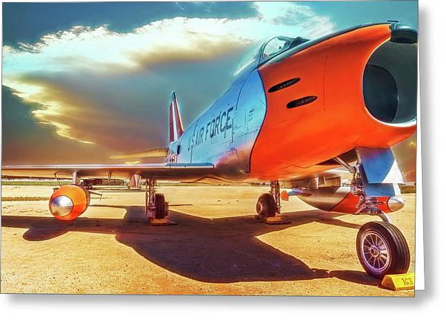 F-86 Sabre Jet Greeting Card by Steve Benefiel