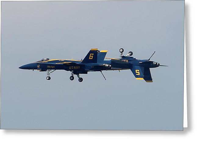 F/a 18 Hornet In Tandem Greeting Card