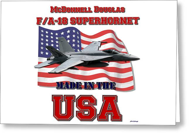 F/a-18 Superhornet Made In The Usa Greeting Card