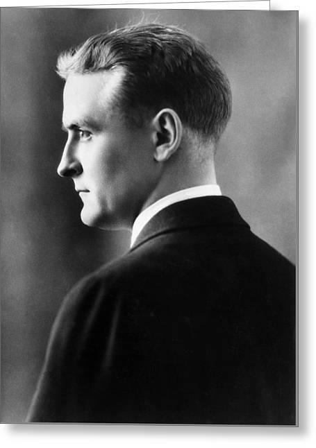 F. Scott Fitzgerald Circa 1925 Greeting Card