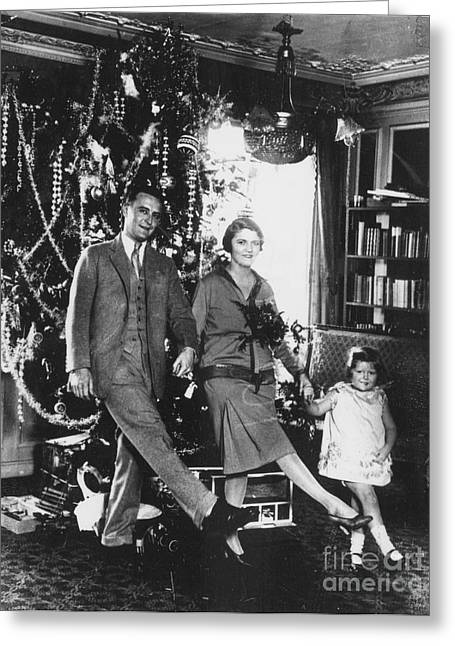 F. Scott Fitzgerald Family Greeting Card by Granger