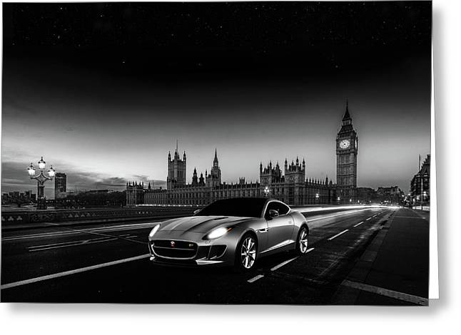F-type In London Greeting Card by Mark Rogan