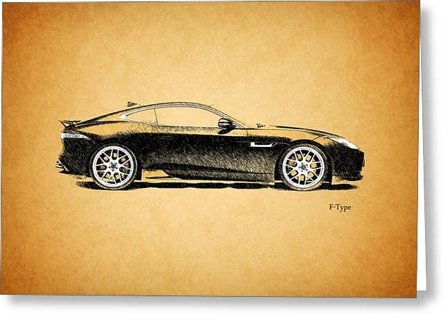 F-type Jaguar Greeting Card by Mark Rogan
