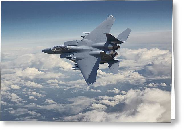 F15 - E  Strike Eagle Greeting Card by Pat Speirs