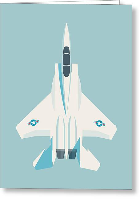 F15 Eagle Fighter Jet Aircraft - Sky Greeting Card