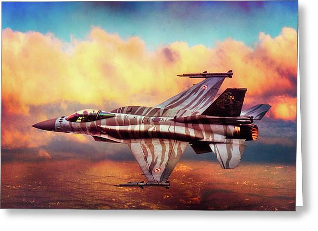 Greeting Card featuring the photograph F16c Fighting Falcon by Chris Lord