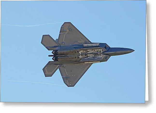 F22 Raptor Munitions Bays Open Greeting Card by Dave Clark