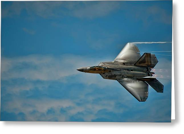 F22 Raptor Steals The Show Greeting Card
