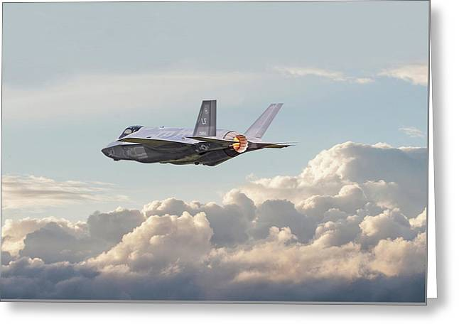 F35 -  Into The Future Greeting Card by Pat Speirs