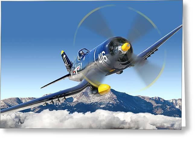 F4-u Corsair Greeting Card by Larry McManus