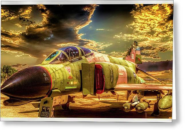 F4c Phantom Jet Greeting Card by Steve Benefiel