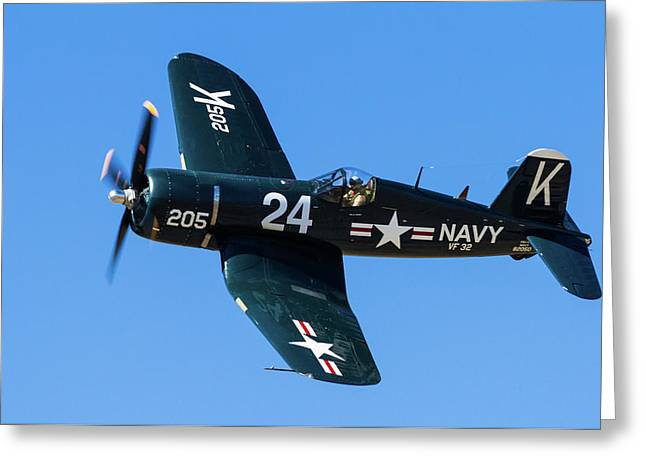 F4u Corsair 205 Greeting Card