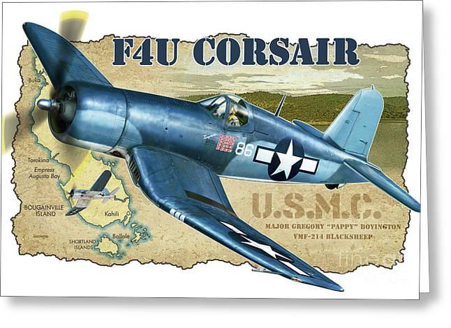 F4u Corsair Pappy Boyington Greeting Card