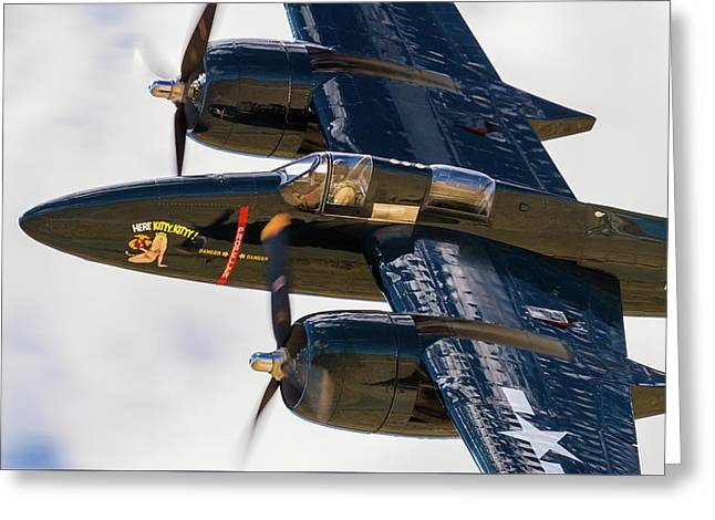 F7f Tigercat Here Kitty, Kitty Greeting Card