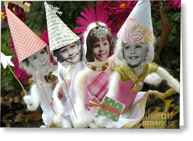 Fab Fairies Greeting Card by Christine Belt