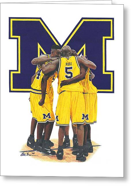 Fab Five Greeting Card